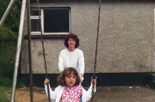 Irene and her daughter Jennifer in Omeath July 1991
